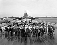 Concorde 002 with the personnel of RAF Fairford, Gloucestershire, c.1969. © BAE Systems [Ref: BAE PH1/C801]